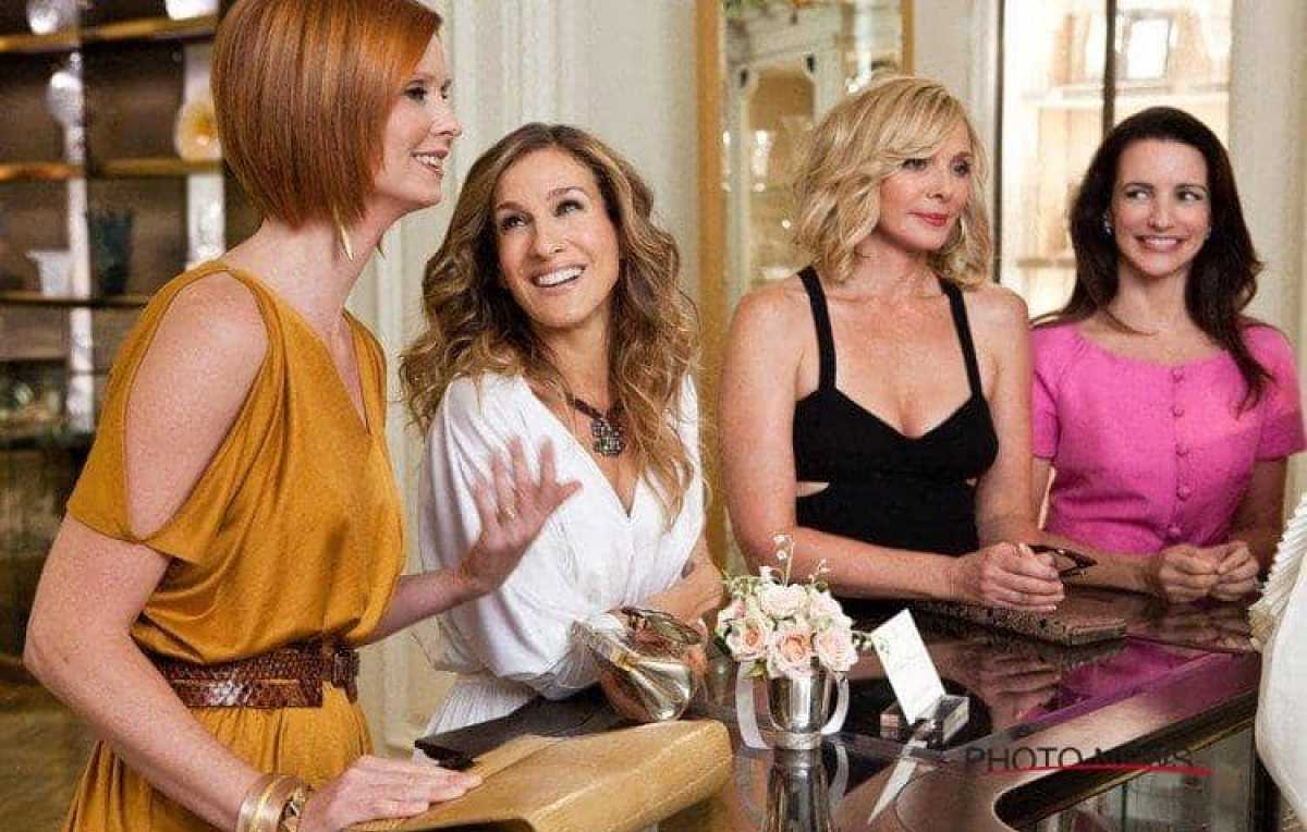 Sex and the City met Cynthia Nixon, Sarah Jessica Parker, Kim Catrall en Kristin Davis